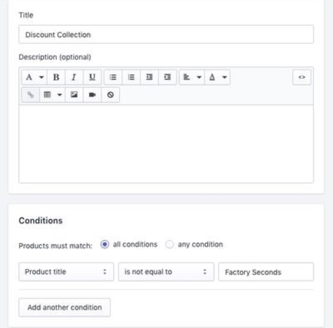 create shopify collections